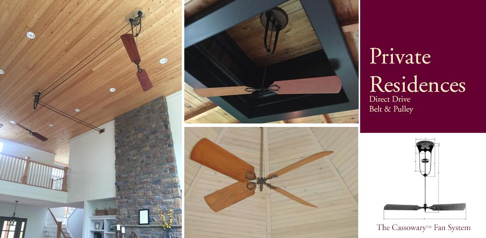 Ceiling Fan Direct Drive : Mahogany belt driven direct drive and pulley ceiling fans