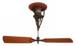 Mahogany belt driven direct drive and pulley ceiling fans the ibis with eel hanger or dragon hanger design aloadofball Gallery